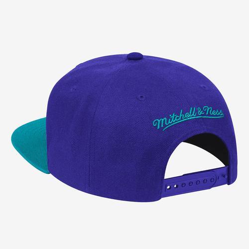Mitchell + Ness Men's Wool 2 Tone Snapback Charlotte Hornets