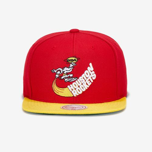 Mitchell + Ness Men's Wool 2 Tone Snapback Houston Rockets