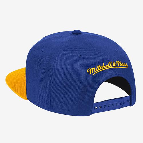 Mitchell + Ness Men's Wool 2 Tone Snapback Golden State Warriors