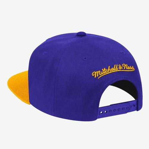 Mitchell + Ness Men's Wool 2 Tone Snapback Los Angeles Lakers