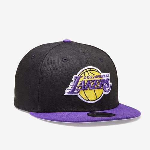Front Left view of New Era Lakers 9Fifty Snapback