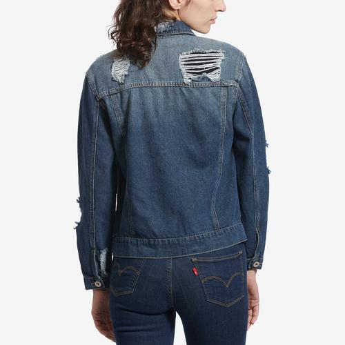 HIGHWAY JEANS Distressed Denim Jacket