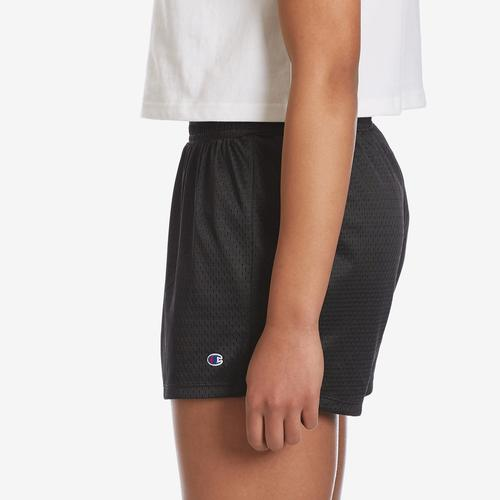 Left Side View of Champion Women's Mesh Shorts