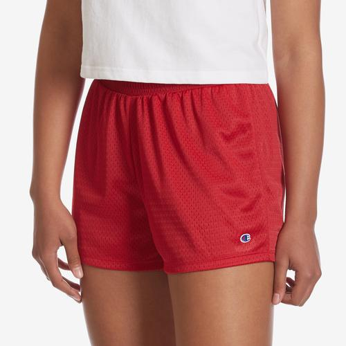 Front View of Champion Women's Mesh Shorts
