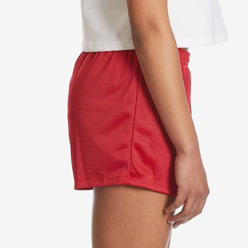 Right Side View of Champion Women's Mesh Shorts