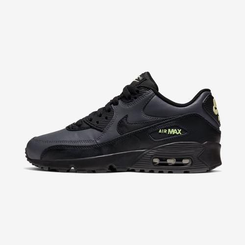 Left Side View of Nike Boy's Grade School Air Max 90 Leather Sneakers