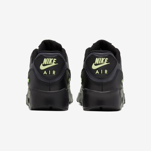 Back View of Nike Boy's Grade School Air Max 90 Leather Sneakers