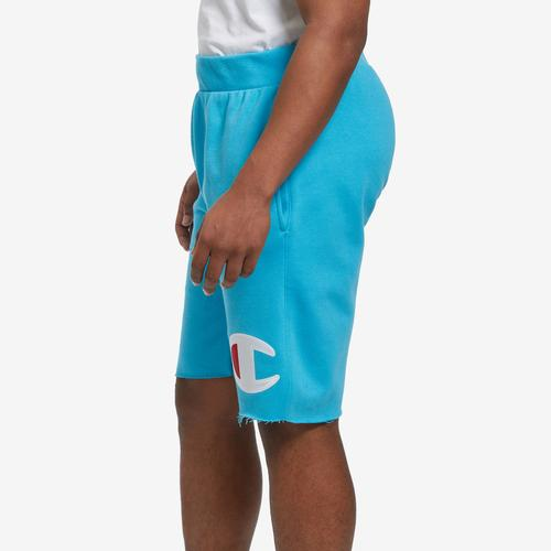 Right Side View of Champion Men's Reverse Weave Cut-Off Shorts