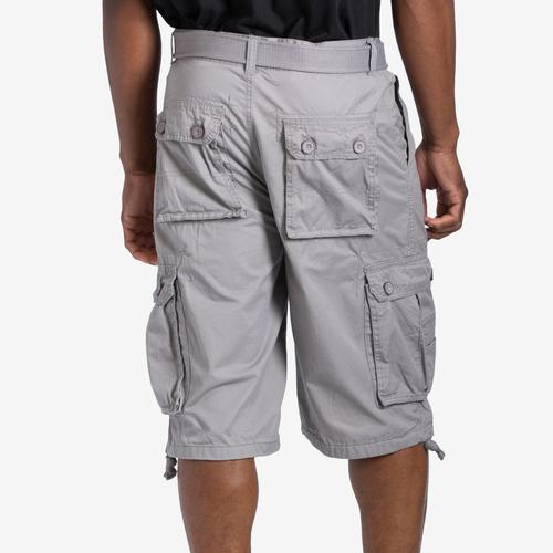 Back View of EBL Men's Belted Cargo Shorts