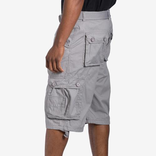 Left Side View of EBL Men's Belted Cargo Shorts