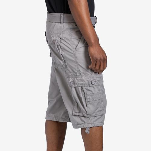 Right Side View of EBL Men's Belted Cargo Shorts