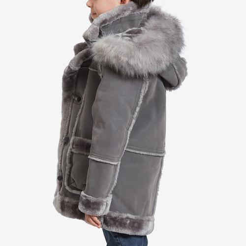 Left Side View of Jordan Craig Boy's Preschool Denali Shearling Jacket