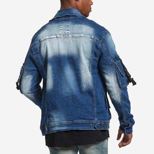 Copper Rivet 3D Pocket Denim Jacket