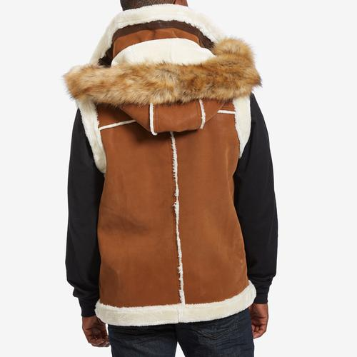 Back View of Jordan Craig Men's Denali Shearling Vest