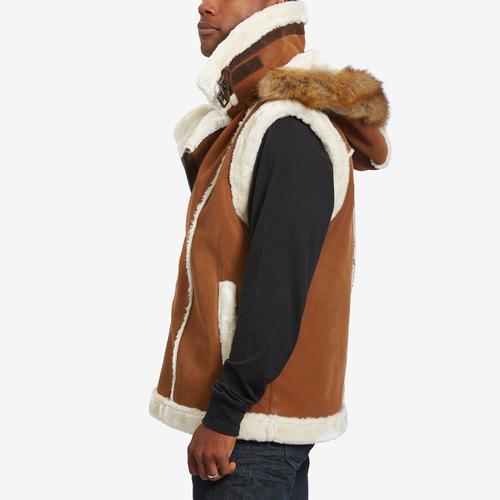 Left Side View of Jordan Craig Men's Denali Shearling Vest