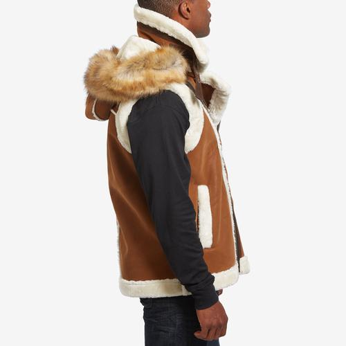 Right Side View of Jordan Craig Men's Denali Shearling Vest