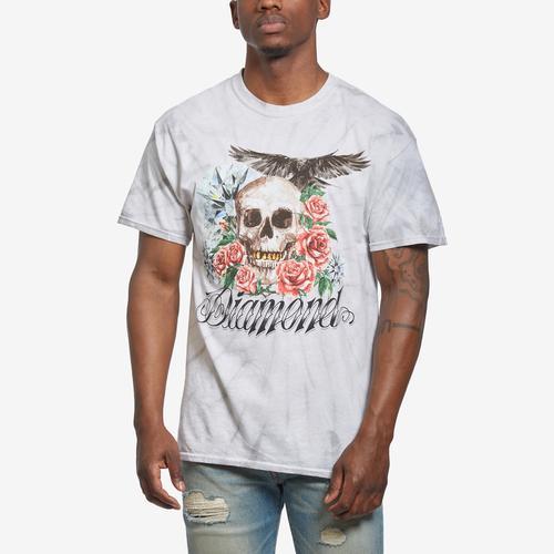 Front View of DIAMOND SUPPLY CO. Men's Skull & Crow Tie Dye Tee