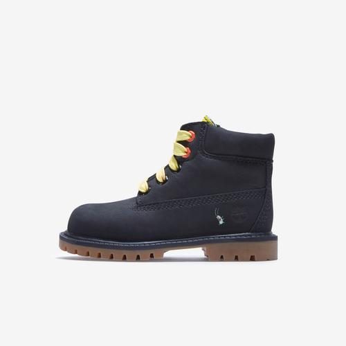 Left Side View of Timberland Boy's Infant SpongeBob x Timberland 6-Inch Waterproof Boots Sneakers
