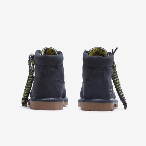 Back View of Timberland Boy's Infant SpongeBob x Timberland 6-Inch Waterproof Boots Sneakers