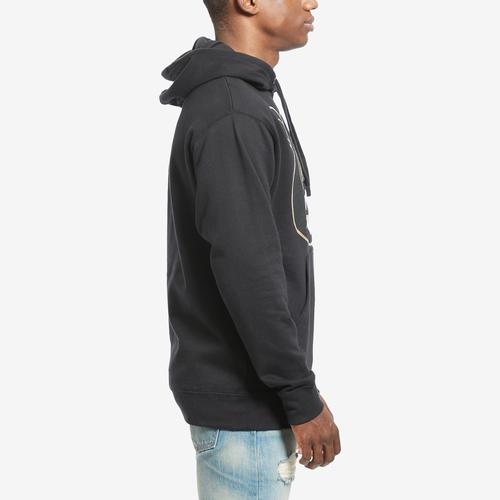 Right Side View of Baws Men's Blackout Gold Hoodie