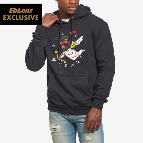 Front View of BKYS Men's Steal Heart Pullover Hoodie