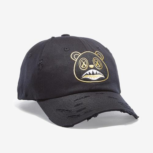 Front Left view of Baws Blackout Gold Hat
