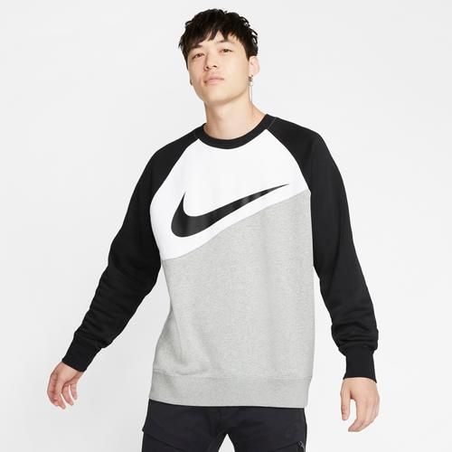 Front View of Nike Men's Sportswear Swoosh Crew