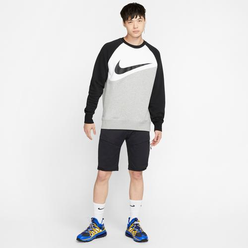 Left Side View of Nike Men's Sportswear Swoosh Crew
