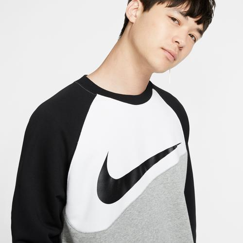 Right Side View of Nike Men's Sportswear Swoosh Crew