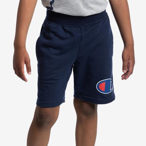 Front View of Champion Boy's French Terry Logo Shorts