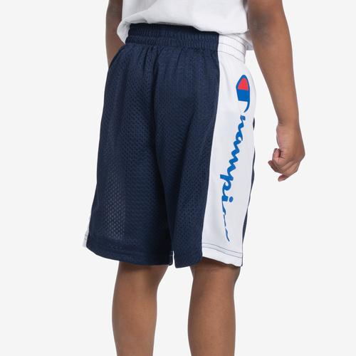 Left Side View of Champion Boy's Script Heritage Shorts