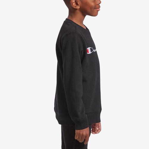 Right Side View of Champion Boy's Preschool Fleece Sweatshirt, Script Logo