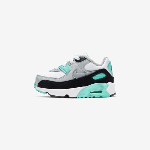 Left Side View of Nike Boy's Toddler Air Max 90 Leather Sneakers