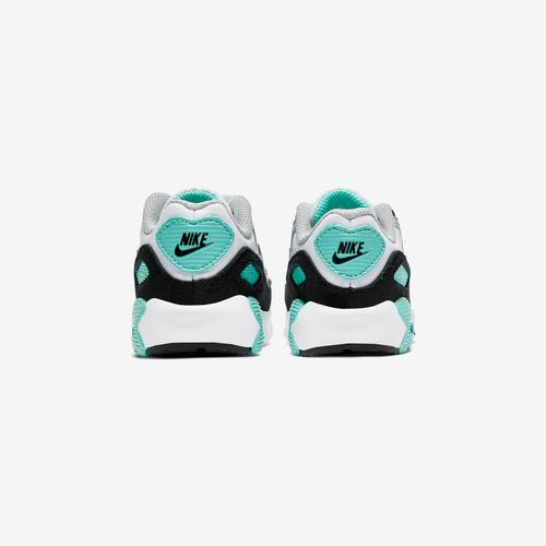 Back View of Nike Boy's Toddler Air Max 90 Leather Sneakers
