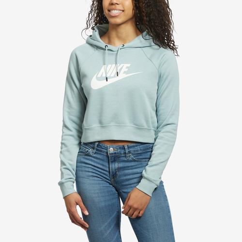 Front View of Nike Women's Sportswear Essential Cropped Hoodie