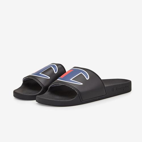 Side Angle View of Champion Men's IPO Slide Sneakers