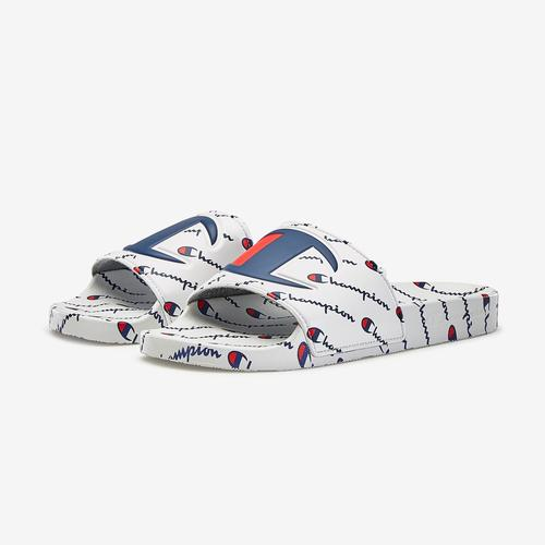 Side Angle View of Champion Men's IPO Repeat Slide Sneakers