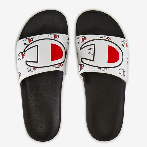 Left Side View of Champion Men's IPO Repeat Slide Sneakers