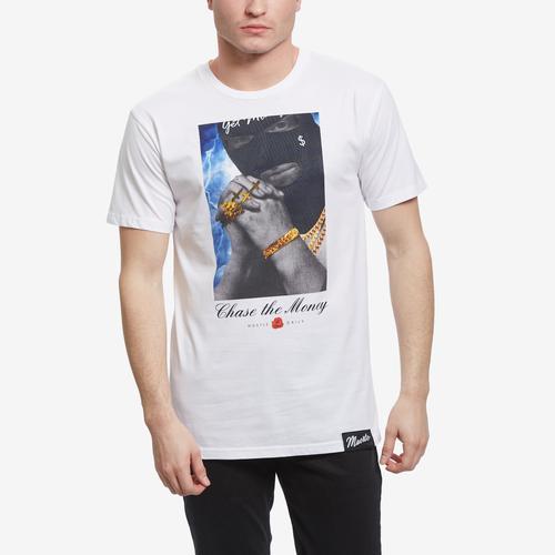 Front View of Hasta Muerte Men's Chase Money Ski Mask T-Shirt