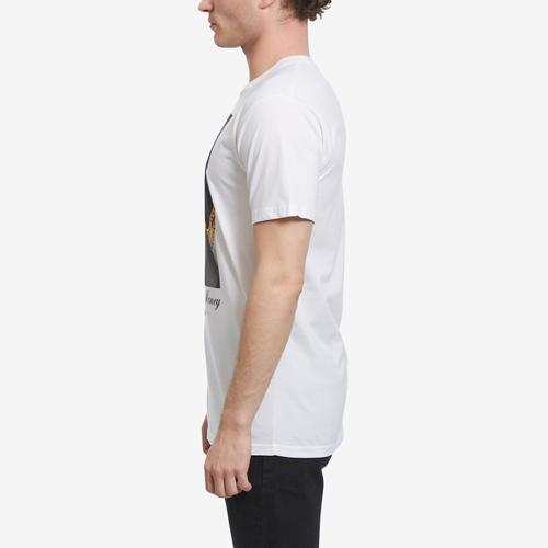 Right Side View of Hasta Muerte Men's Chase Money Ski Mask T-Shirt