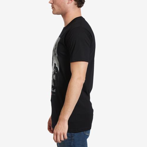 Left Side View of Hasta Muerte Men's City of Angels Born To Hustle T-Shirt