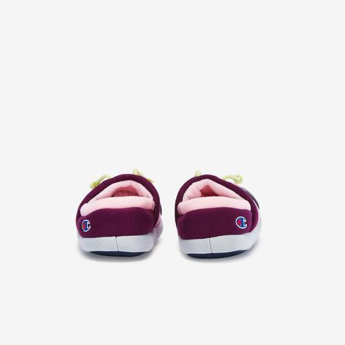 Back View of Champion Girl's Preschool Life University Slippers Sneakers