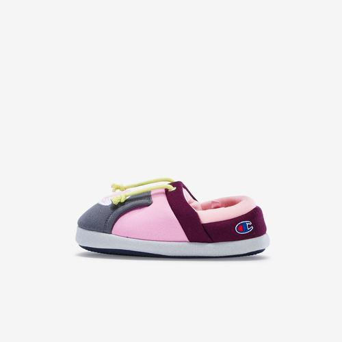 Left Side View of Champion Girl's Toddler Life University Slippers Sneakers