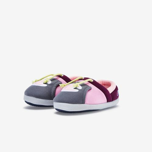 Side Angle View of Champion Girl's Toddler Life University Slippers Sneakers