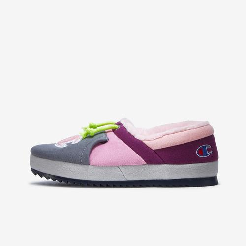 Left Side View of Champion Girl's Grade School Life University Slippers Sneakers