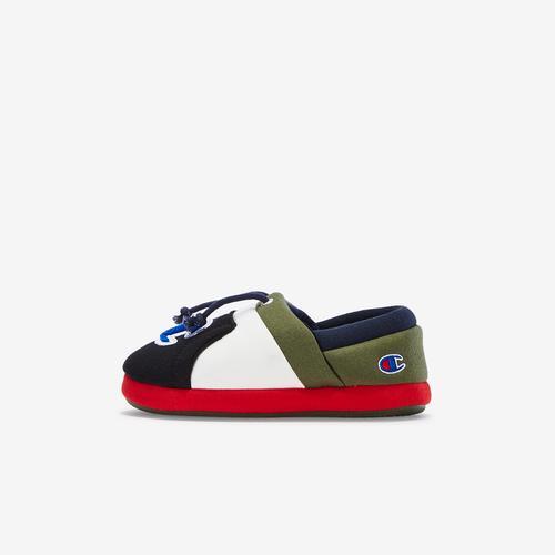 Left Side View of Champion Boy's Preschool Life University Slippers Sneakers