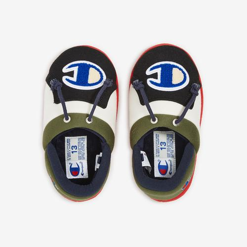 Bottom View of Champion Boy's Preschool Life University Slippers Sneakers