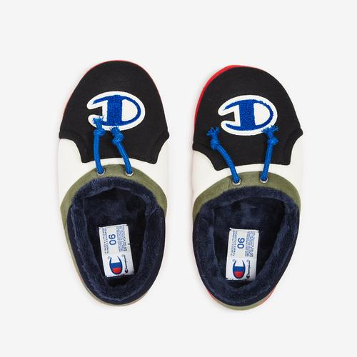 Bottom View of Champion Boy's Grade School Life University Slippers Sneakers