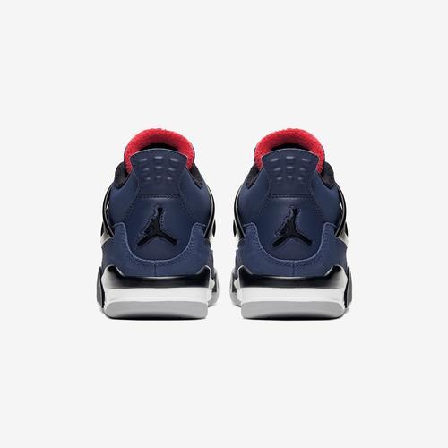 Back View of Jordan Boy's Grade School Air Jordan 4 Retro WNTR Sneakers