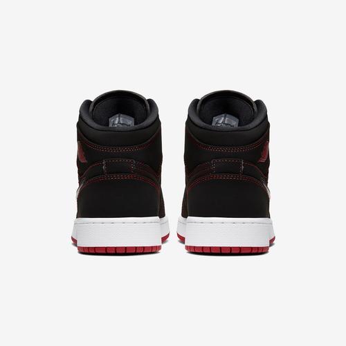 Back View of Jordan Boy's Grade School Air Jordan 1 Mid Fearless Sneakers